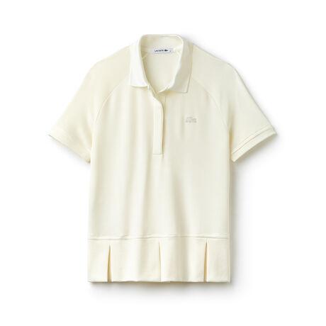 Women's Technical Split Pleats Piqué Polo Shirt