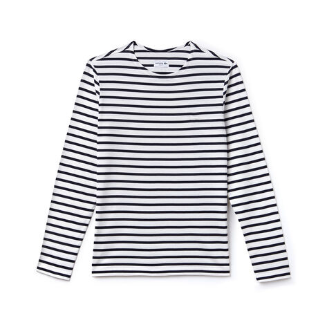 Men's Crew Neck Cotton Jersey Nautical Shirt
