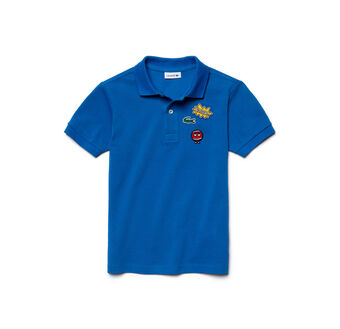 Kids' Embroidered Piqué Polo Shirt