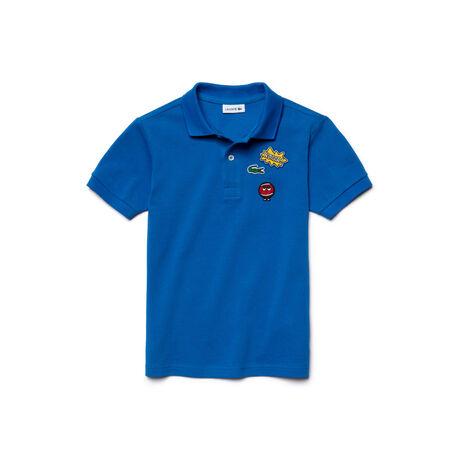 Kids' Embroidered Piqué Polo Shirt