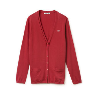Women's Jersey Cotton Wide V-Neck Cardigan