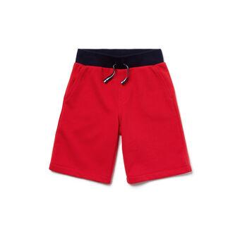 Kids' Cotton Fleece Waistband Bermuda Shorts