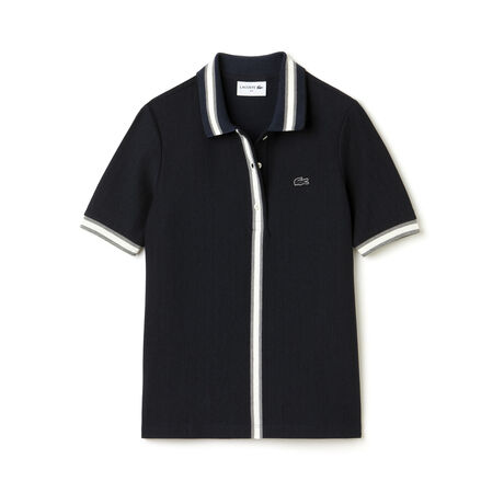 Women's Made in France Stripe Detailed Polo Shirt