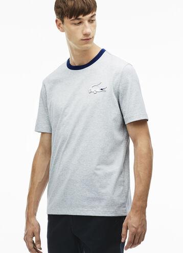 Men's L!VE Jersey Cotton Crew Neck T-Shirt