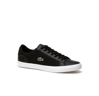 Men's Lerond Low-Rise Leather and Canvas Sneakers