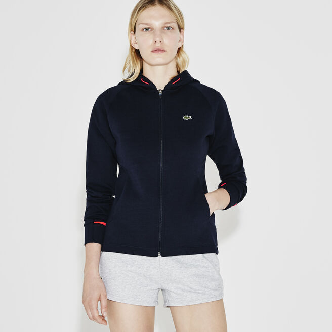 Women's SPORT Hooded Zip Two-Ply Fleece Tennis Sweatshirt
