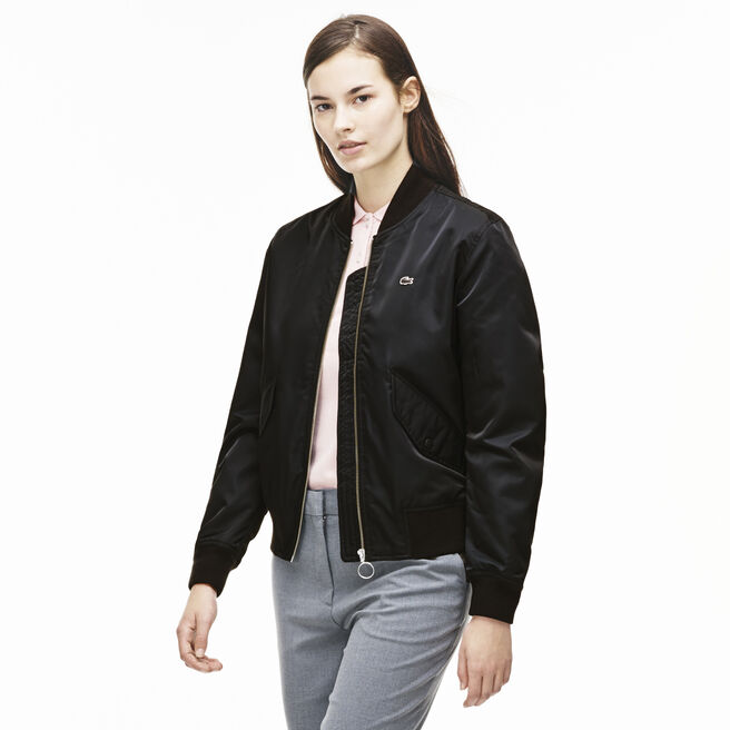 Women's L!VE Print Twill Bomber Jacket