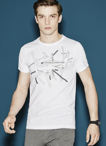 Men's SPORT Technical Jersey Crocodile T-Shirt