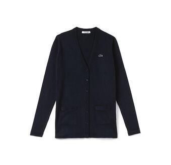 Women's Cotton Jersey V-Neck Cardigan