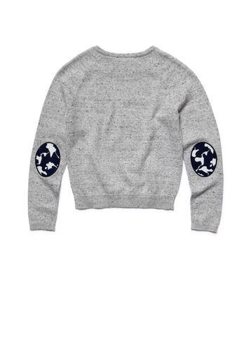 Kids' Floral Panels Raglan Sweater