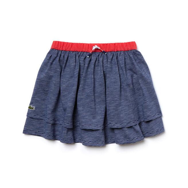 Kid's Striped Jacquard Skirt