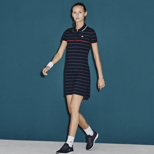 Women's SPORT French Open Striped Polo Dress