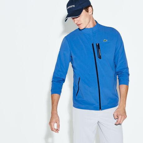 라코스테 스포츠 집업 자켓 Lacoste Mens SPORT Technical Zip Golf Jacket,medway blue/navy blue