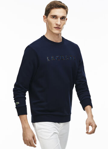 Men's Lacoste Lettering Cotton Fleece Sweatshirt