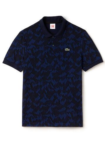 Men's L!VE Camo Jacquard Cotton Polo Shirt
