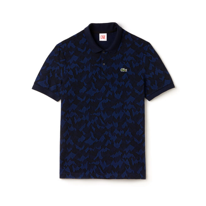 Men's L!VE Camo Jacquard Cotton Polo Shirt