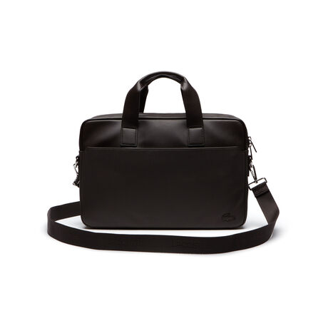 Men's Rafael Monochrome Leather Zip Computer Bag