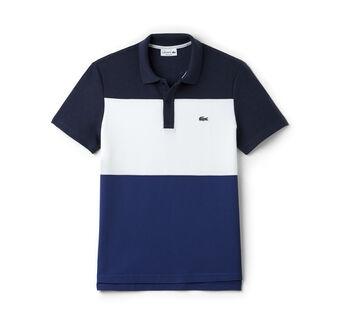 Men's Regular Fit Piqué Color Block Polo Shirt