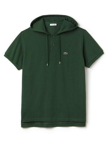 Men's Fashion Show Petit Piqué Hooded Oversized Polo Shirt