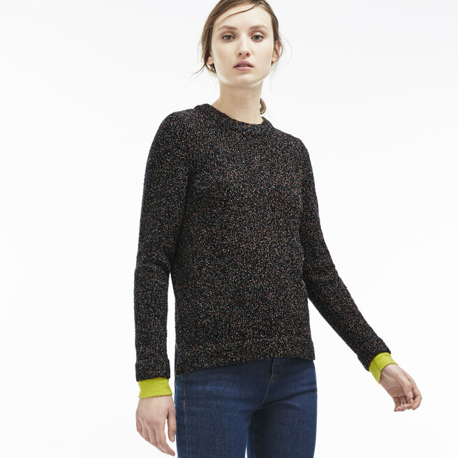 Women's Multi Print Cotton and Wool Sweater