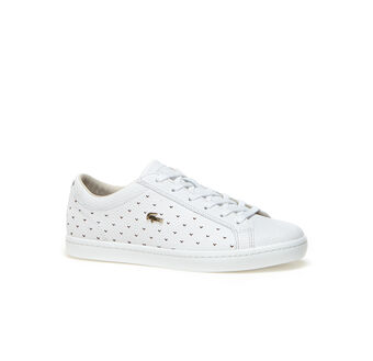 Women's Straightset Perforated Piqué Leather Sneakers