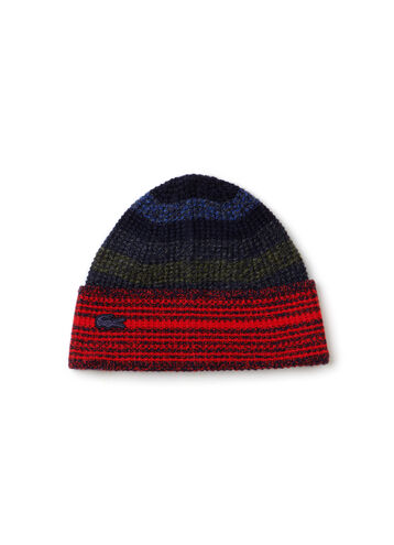 Women's Mouliné Jersey Beanie With Multicolored Stripes