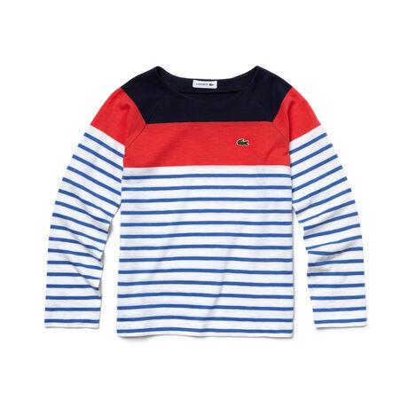 Kids' Striped Colorblock T-Shirt