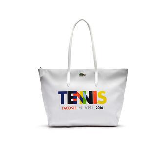 Women's Miami Open Large Horizontal Tote Bag