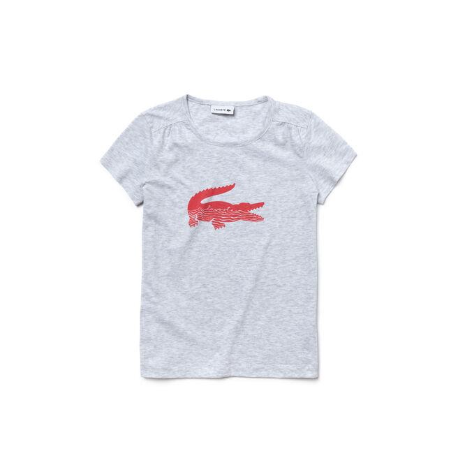 Girl's Jersey Crocodile Print T-Shirt