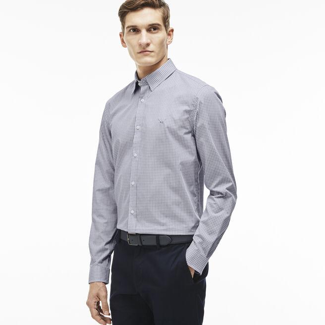 Men's Plaid Poplin Woven Shirt