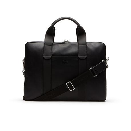라코스테 풀에이스 소프트가죽 컴퓨터백 블랙 Lacoste Mens Full Ace Soft Leather Computer Bag,BLACK