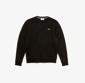 Lacoste SPORT crew neck sweatshirt in solid fleece