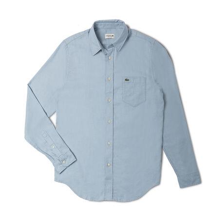 Men's Jacquard Piqué Woven Shirt