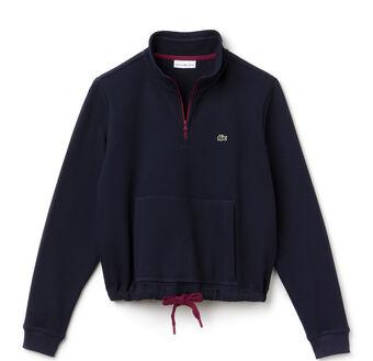 Women's SPORT Mock Neck Half Zip Pocket Sweatshirt