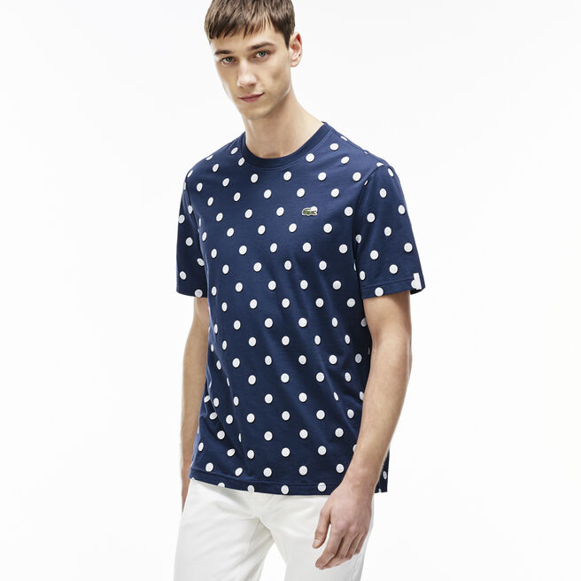 Men's L!VE Crew Neck Polka Dot Jersey T-shirt