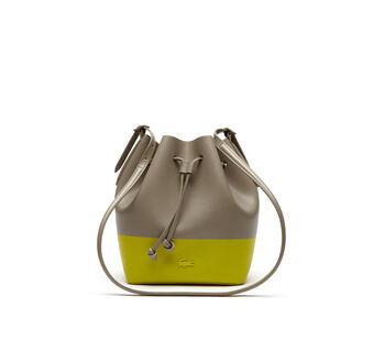 Women's Chantaco Bicolor Leather Bucket Bag