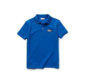 Kids' Printed Crocodile Piqué Polo Shirt