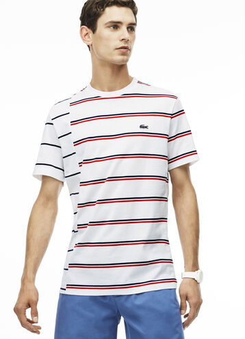 Men's Made in France Striped Cotton Jersey T-Shirt