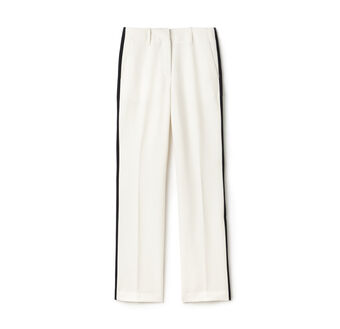 Women's Fashion Show Contrast Band Grain De Poudre Wide Pants