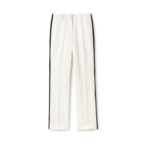 Women's Fashion Show Contrast Band Grain De Poudre Wide Pants