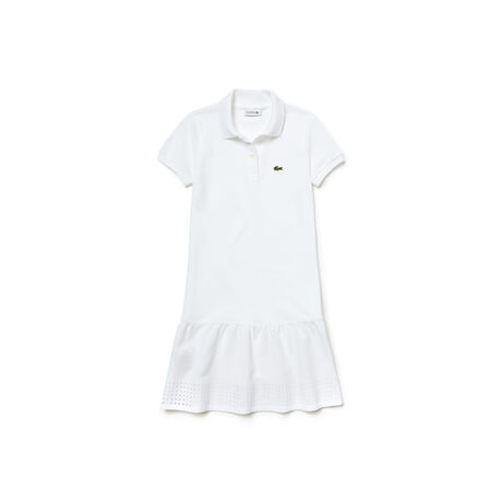 Kid's Openwork Piqué Knit Polo Dress