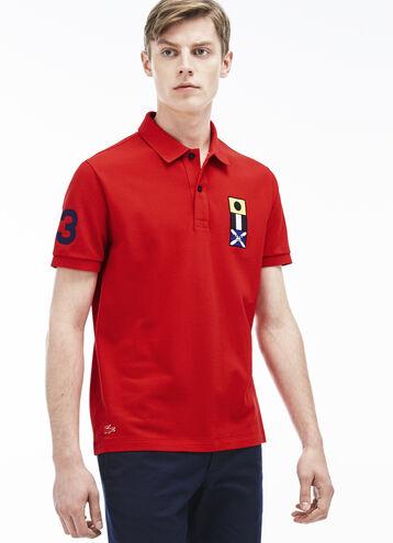 Men's Nautical Flag Trim Polo Shirt