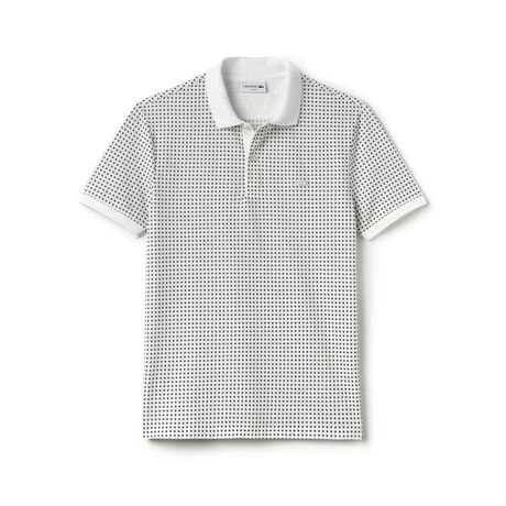 "Men's ""Kinetic"" Print Piqué Polo Shirt"