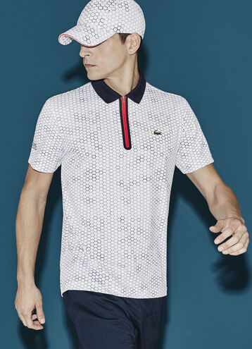 Men's SPORT Ultra Dry Zip Tennis Polo Shirt