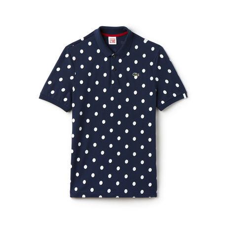 Men's L!VE Regular Fit Polka Dot Petit Piqué Polo Shirt