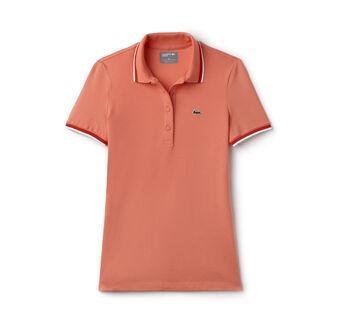 Women's SPORT Piped Stretch Petit Piqué Golf Polo Shirt