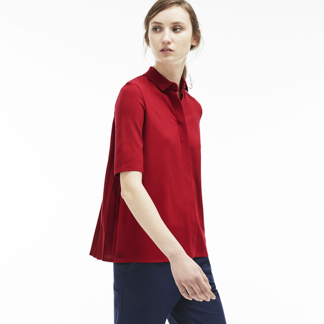 Women's Milano Half Sleeve Pleated Back Polo Shirt