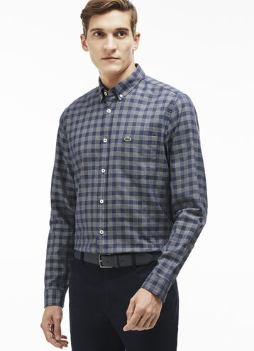 Men's Windowpane Woven Shirt