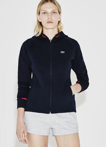 Women's SPORT Hooded Zip Two-Ply Fleece Tennis Sweatshirt