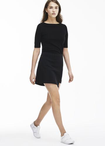 Women's Tightly Knit Milano Cotton Wraparound Skirt